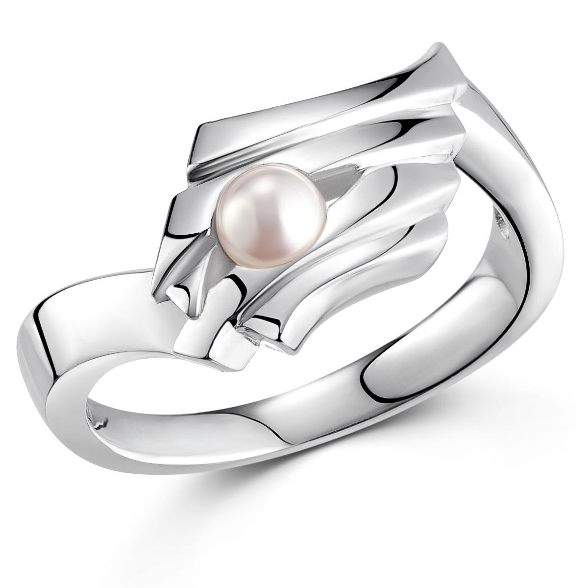 Damen Ring 925 Sterling Silber Rhodiniert