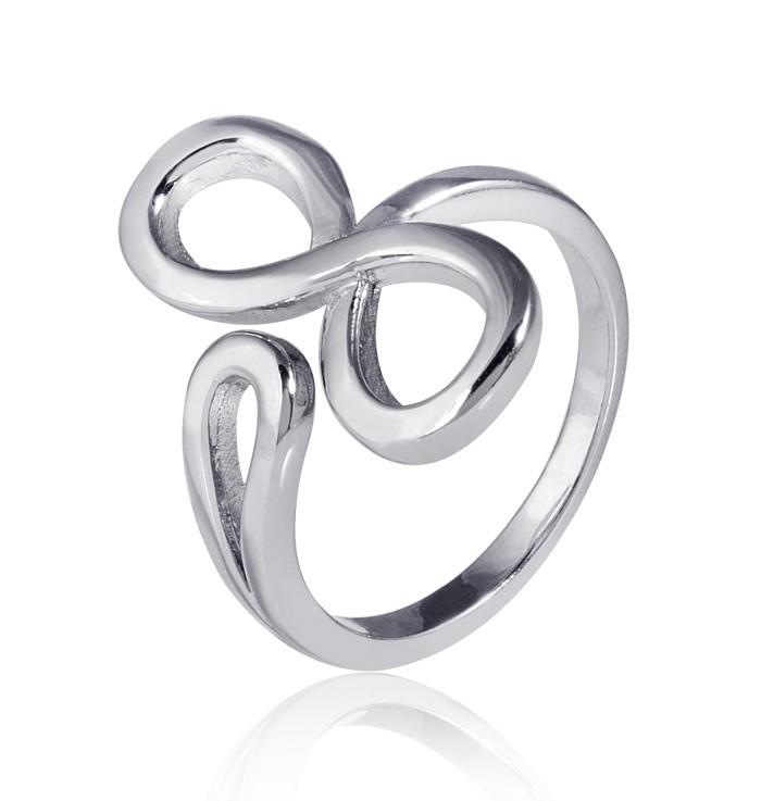 MATERIA 925 Silber Ring Unendlichkeit Schleife - Silber Damen Ring rhodiniert Gr. 51 - 62 + Box #SR-51