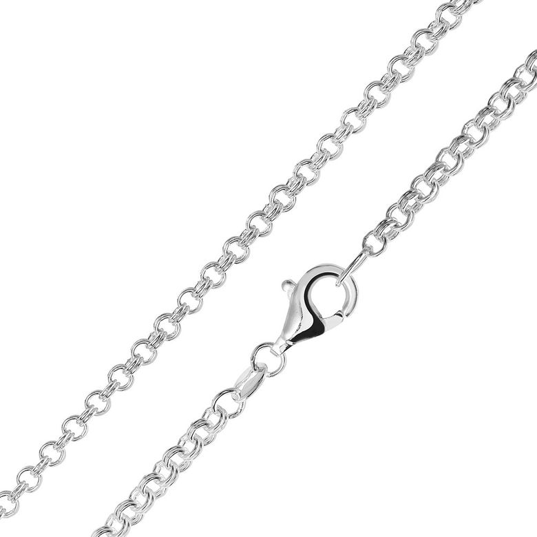 MATERIA Zwillings Ankerkette silber 925 - Halskette Damen Herren 2,3mm Silber Kette in 40 45 50 60 70 80 cm #K31