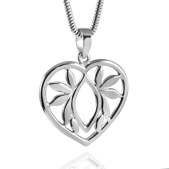 MATERIA 925 Silber Kettenanhänger Herzen - Damen Anhänger Herz mit Silber Kette inklusive Box #189-30