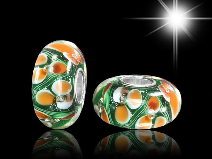 925 Sterling Silber Murano Glas Bead Element - Beads Modell: #957
