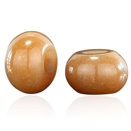 MATERIA Echter Carneol Beads Anhänger Naturstein orange braun für Beads Armband /Kette #1044