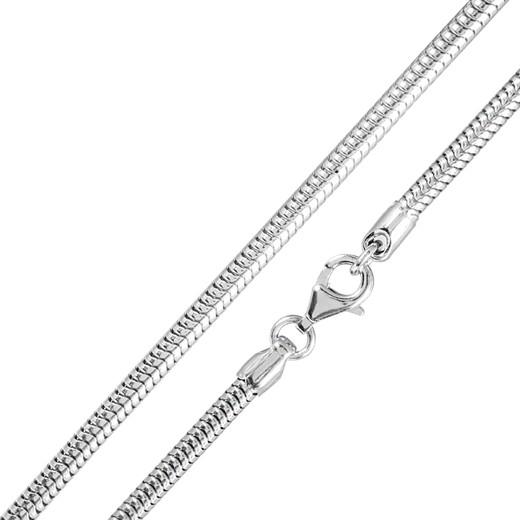 120cm Schlangenkette Silber 925 rhodiniert 2,4mm Halskette | Materia Schmuck by Matthias Wagner