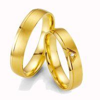 Trauringe Eheringe Verlobungsringe Gold Gelbgold BRILLANT Made in Germany Top