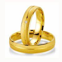 Trauringe Eheringe Gold Gelbgold BRILLANT Made in Germany Top Design 06500410