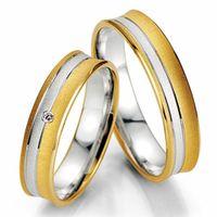 Trauringe Eheringe Gold Gelbgold Weißgold Bicolor Brillant TOP DESIGN 06500430