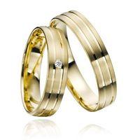 Trauringe / Eheringe / Verlobungsringe / Gold / Gelbgold  / Paarpreis