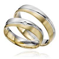 Trauringe / Eheringe / Verlobungsringe /  Gelbgold / Weißgold / Bicolor / Paarpreis