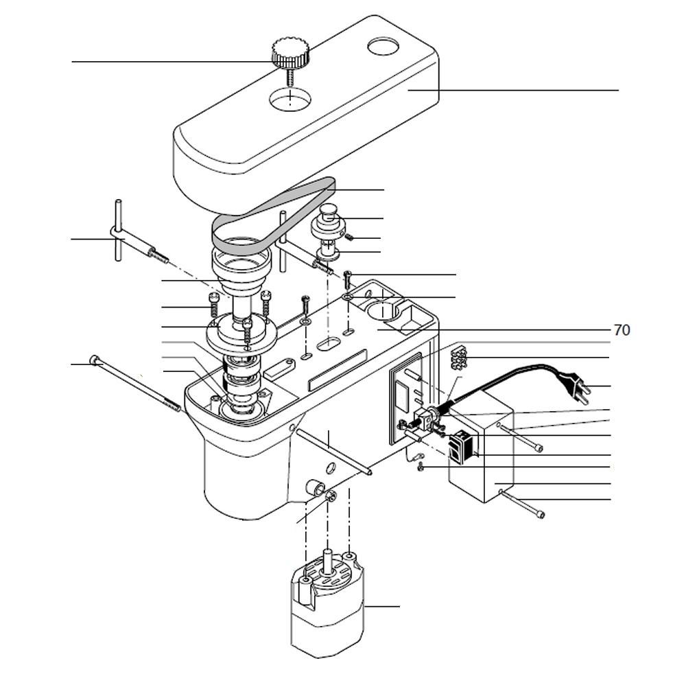 PROXXON 28128-70 Maschinengehäuse für Tischbohrmaschine TBM220