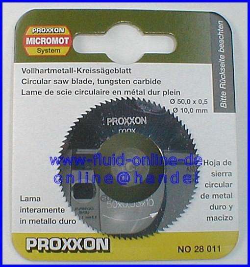 PROXXON 28011 Vollhartmetall - Kreissägeblatt / Sägeblatt Ø50mm