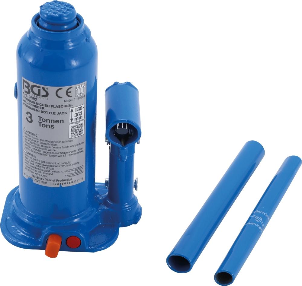 BGS 9882 Hydraulischer Wagenheber Flaschenheber 3t