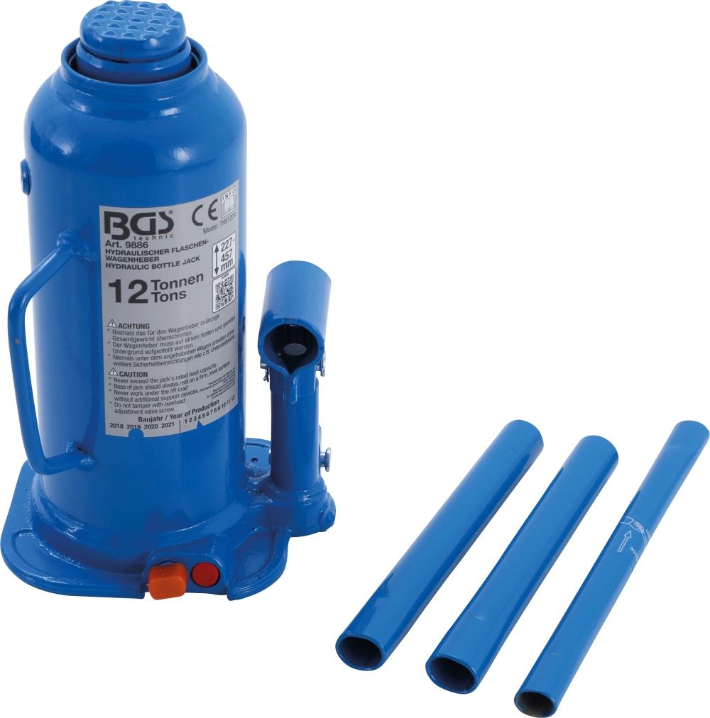 BGS 9886 Hydraulischer Wagenheber Flaschenheber 12t