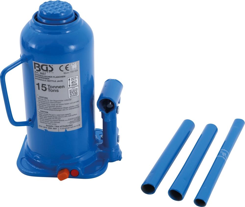BGS 9887 Hydraulischer Wagenheber Flaschenheber 15t