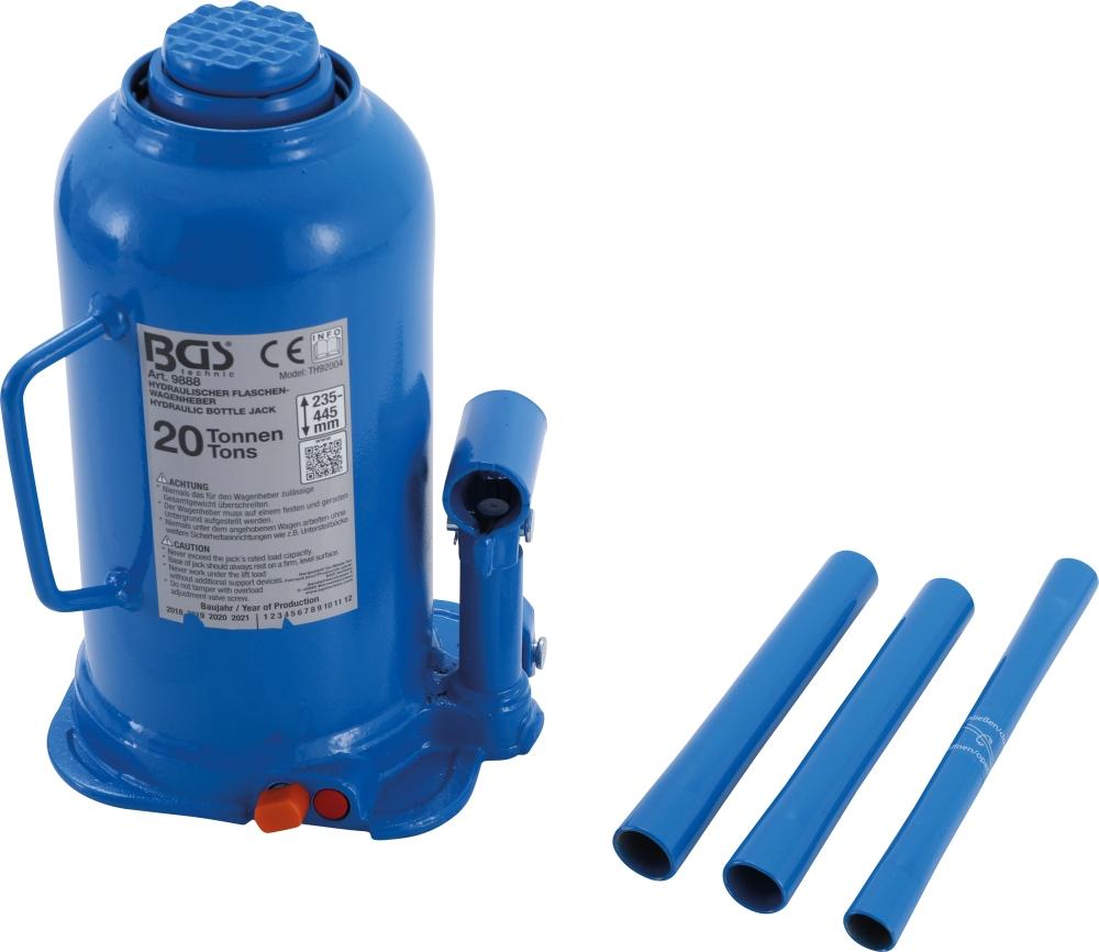 BGS 9888 Hydraulischer Wagenheber Flaschenheber 20t