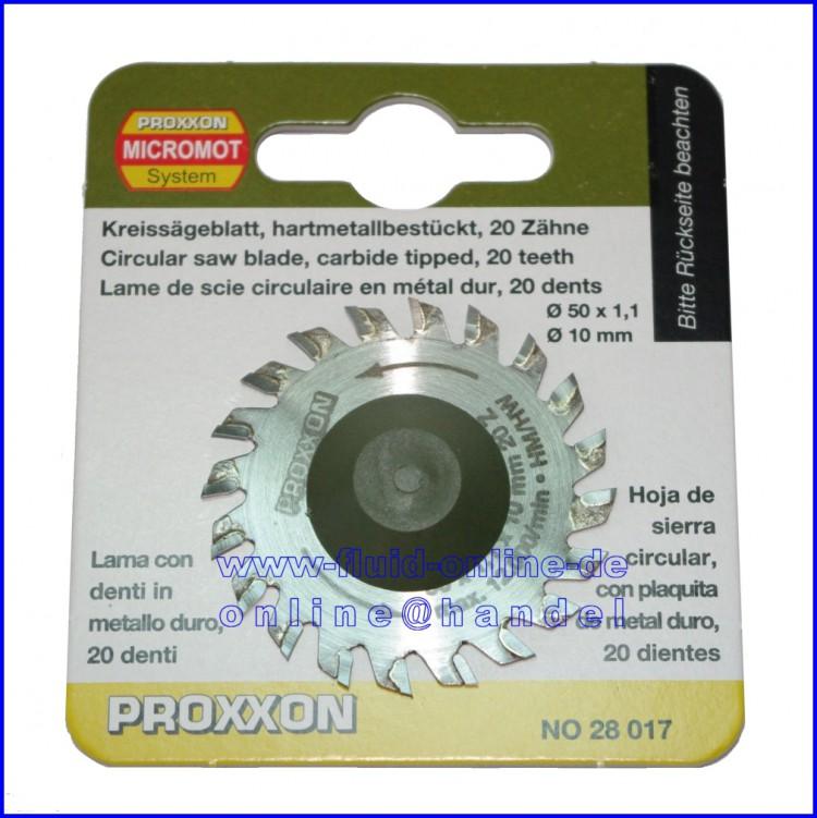 PROXXON 28017 Kreissägeblatt Sägeblatt hartmetall bestückt 20 Zähne Ø50mm