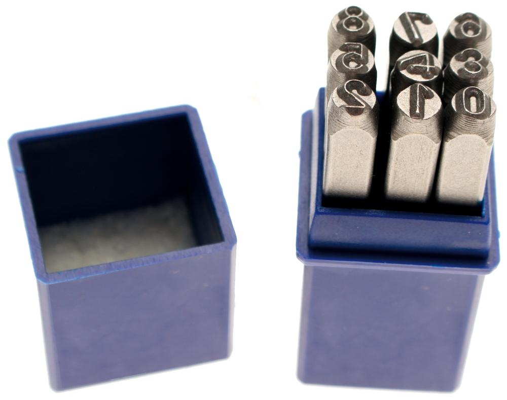 BGS 3031 Einschlagzahlen Höhe 2mm im Kästchen aus Kunststoff