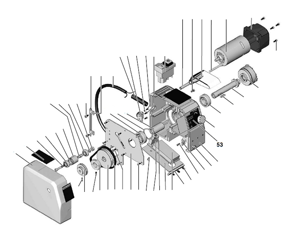 PROXXON 24150-01-53 Aufkleber für Drehmaschine FD 150/E