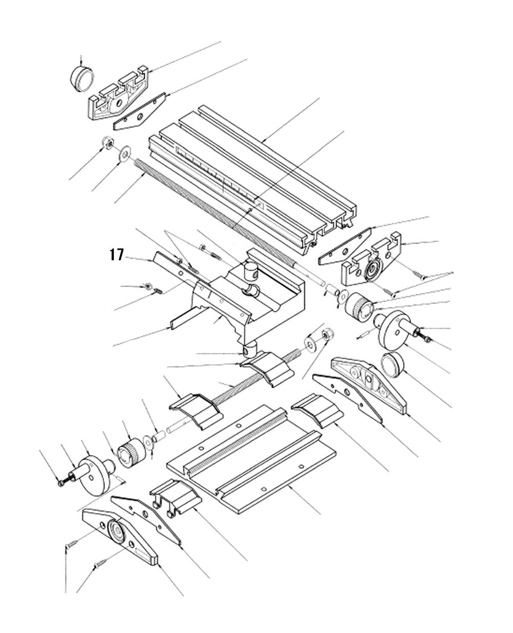 PROXXON 27110-17 Justierplatte oben für Micro-Fräse MF 70
