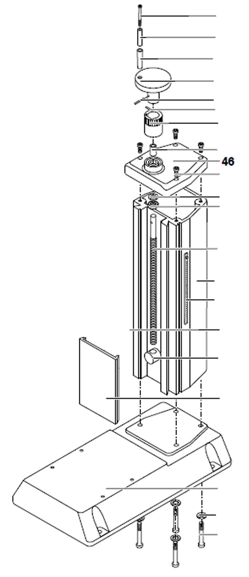 PROXXON 27110-46 Deckel für Micro-Fräse MF 70