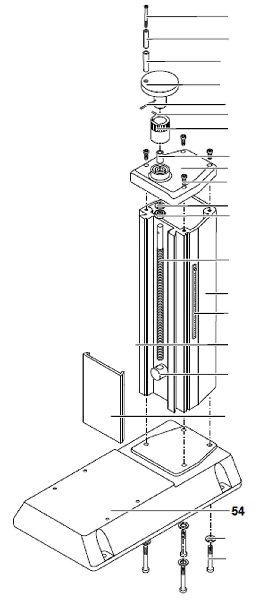 PROXXON 27110-54 Fuß für Micro-Fräse MF 70