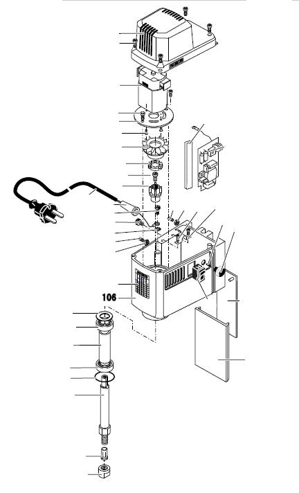 PROXXON 27110-106 Hauptgehäuse für Micro-Fräse MF 70