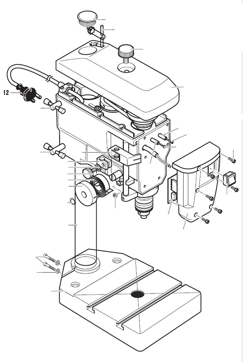 PROXXON 28124-12 Zuleitung für Tischbohrmaschine TBH