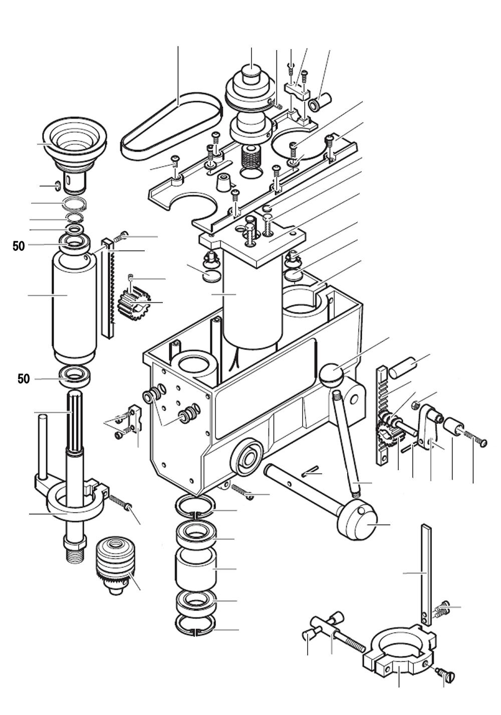 PROXXON 28124-50 Kugellager für Tischbohrmaschine TBH