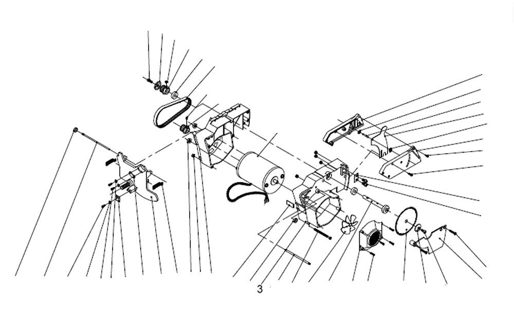 PROXXON 27070-03 Motorgehäuse, groß für Feinkreissäge FET 27070-3
