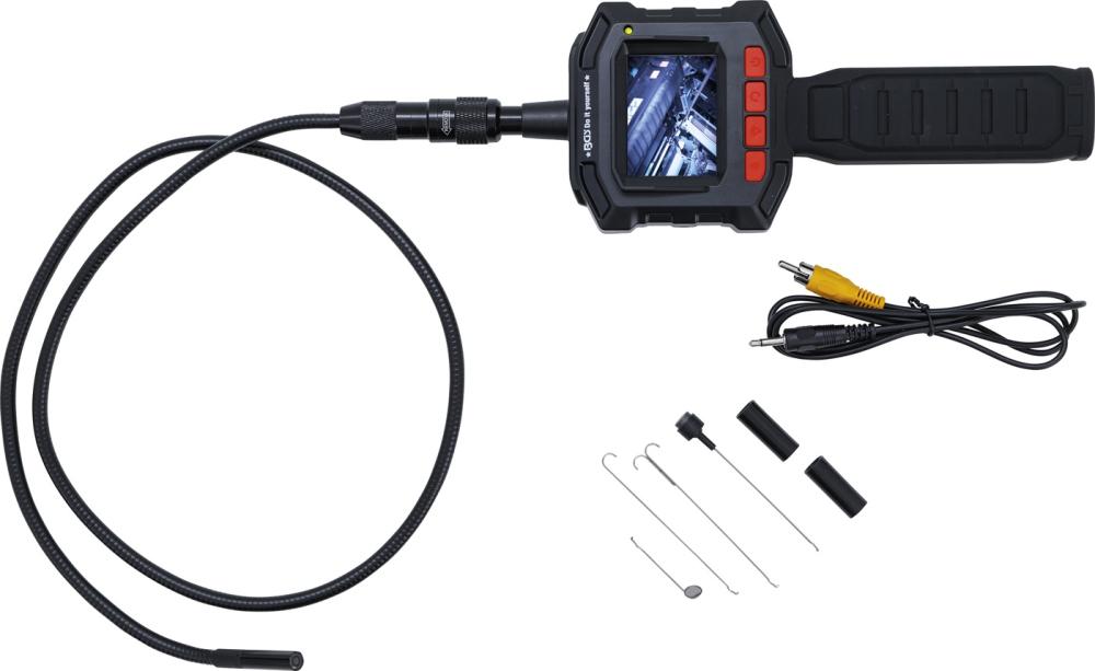 BGS Kraftmann 63216 Endoskop Farbkamera mit TFT-Monitor Kamerakopf Ø8mm
