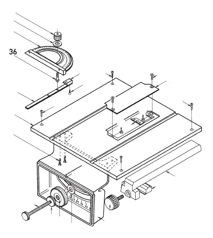 PROXXON 28070-36 Bolzen Winkelanschlag für Feinschnitt-Tischkreissäge FKS/E