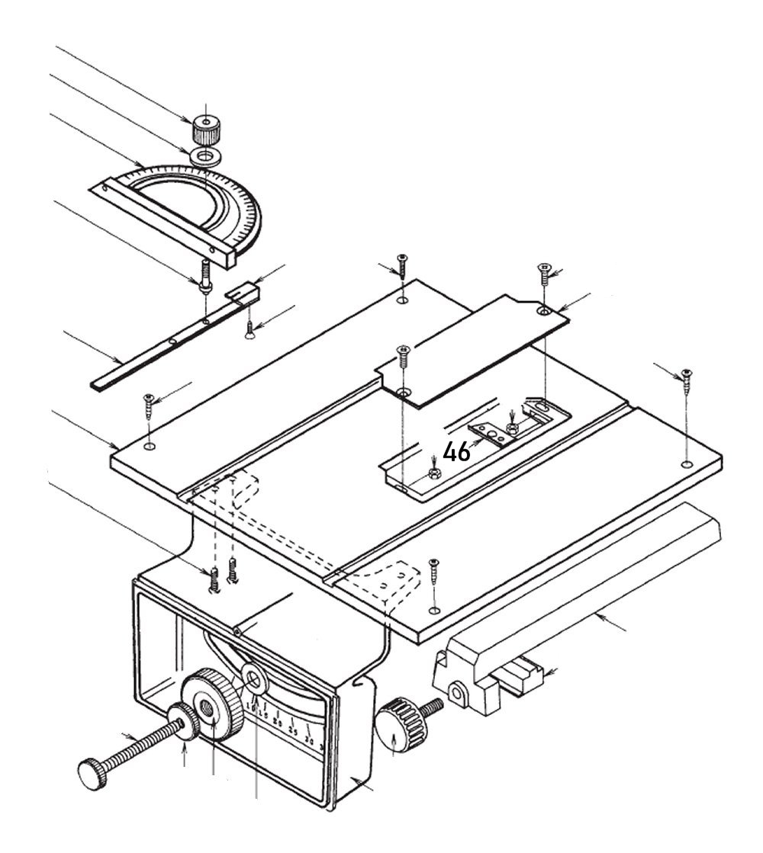 PROXXON 28070-46 Halteplatte für Feinschnitt-Tischkreissäge FKS/E
