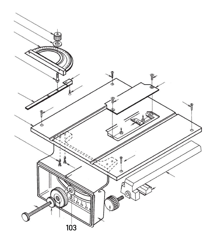 PROXXON 28070-103 Scheibe Winkeleinstellknopf für Feinschnitt-Tischkreissäge FKS/E