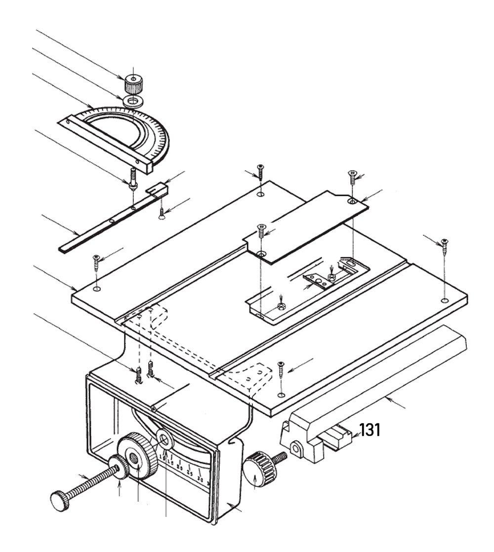 PROXXON 28070-131 Schiebestück für Längsanschlag für Feinschnitt-Tischkreissäge FKS/E