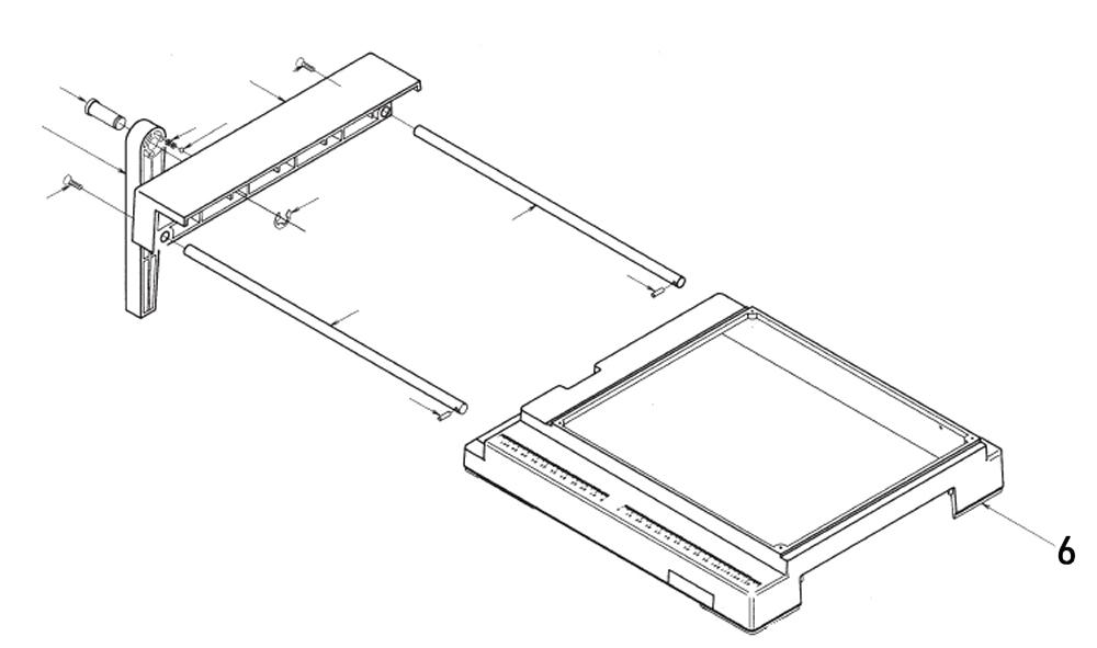 PROXXON 28070-6 Gehäuseoberteil für Feinschnitt-Tischkreissäge FKS/E