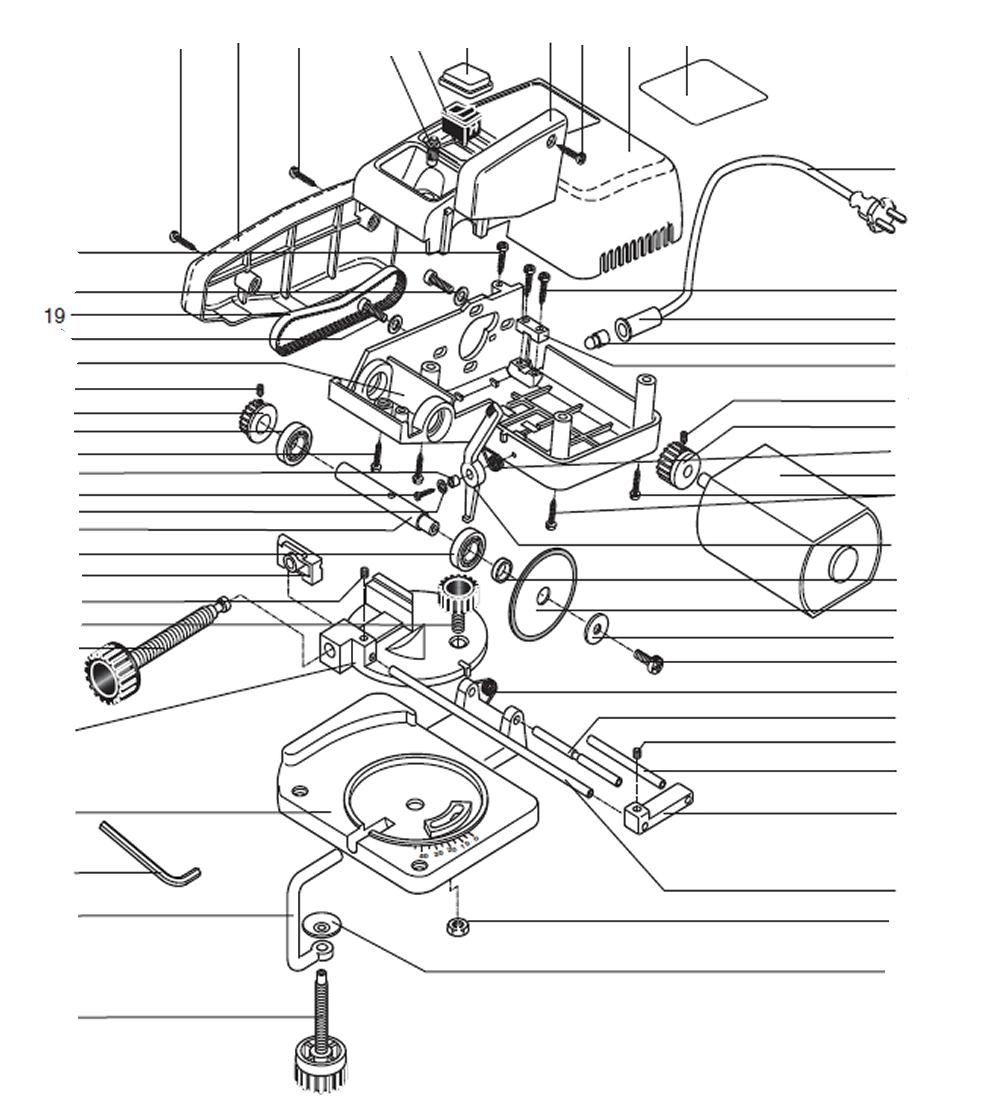 PROXXON 27150-19 Zahnriemen Antriebsriemen zu Kappgerät KG50