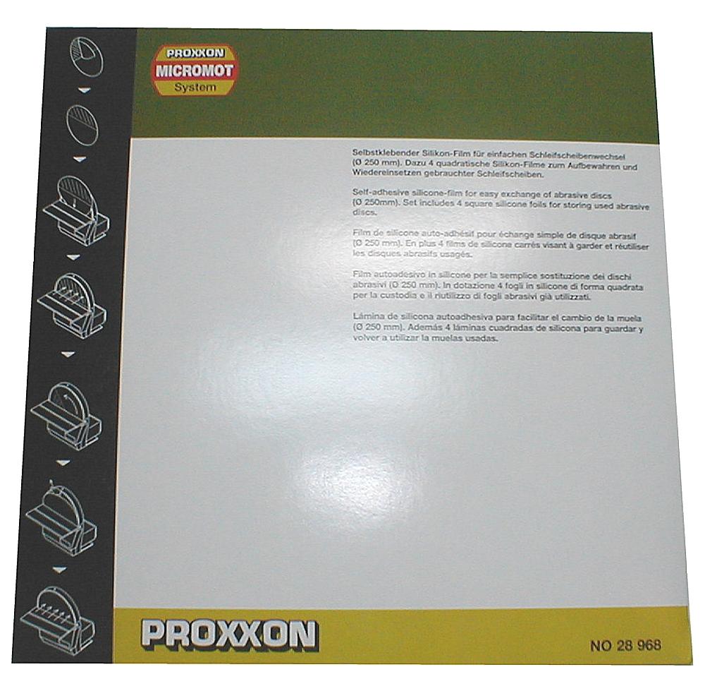 PROXXON 28968 Selbstklebender Silikonfilm für einfachen Schleifscheibenwechsel TSG 250/e