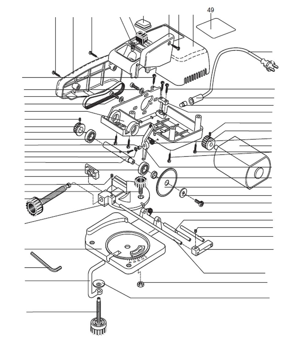 PROXXON 27150-49 Typenschild für Kappgerät KG50
