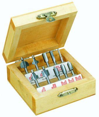 PROXXON 29020 Holzprofilfräser - Set, 10-teiliger Satz