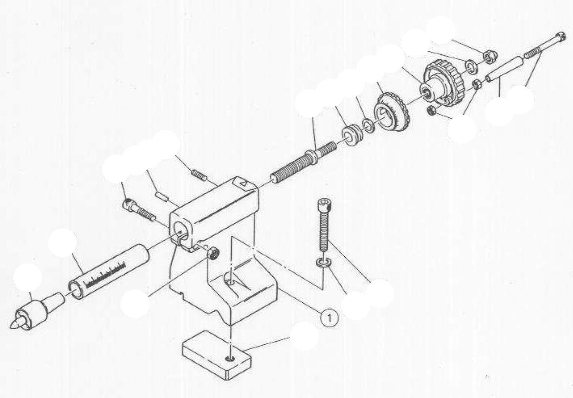 PROXXON 24200-05-01 Reitstock für Drehmaschine PD360