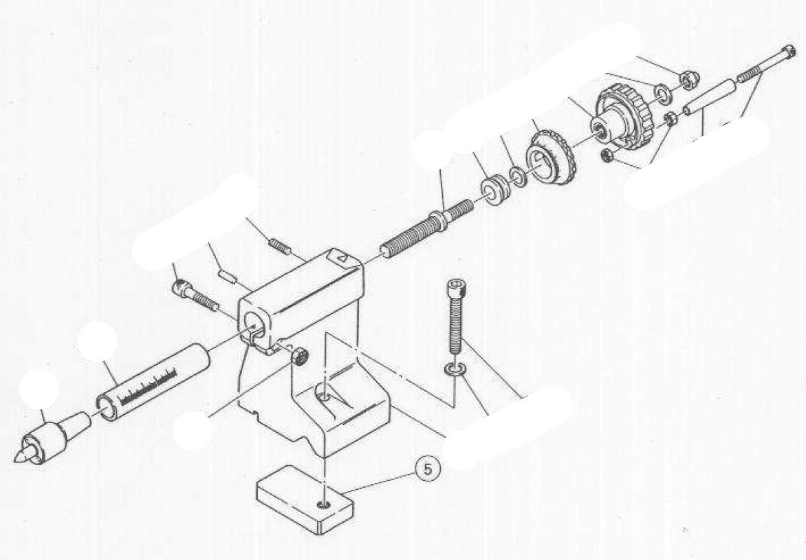 PROXXON 24200-0505 Platte mit Gewinde für Drehmaschine PD360
