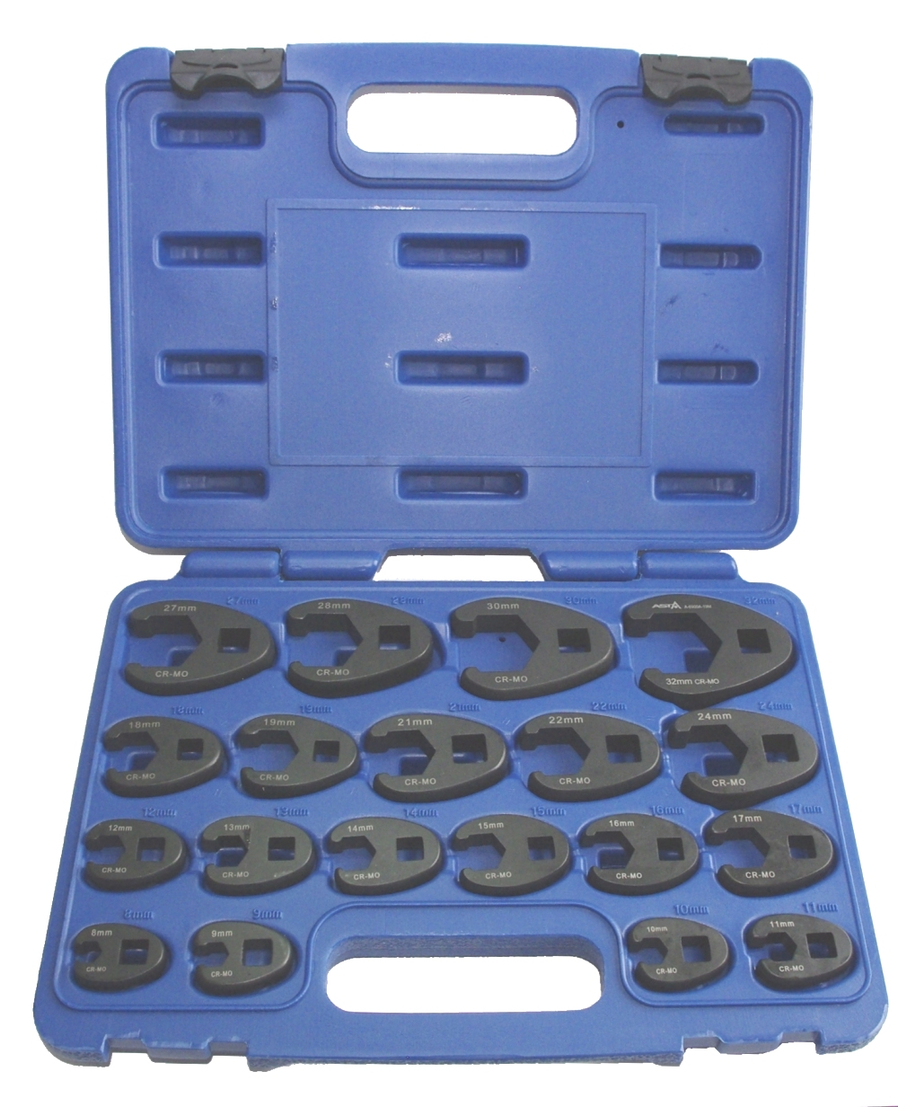 ASTA A-6900A-19M Satz Hahnenfuss / Krähenfuss Schlüssel 10-32mm