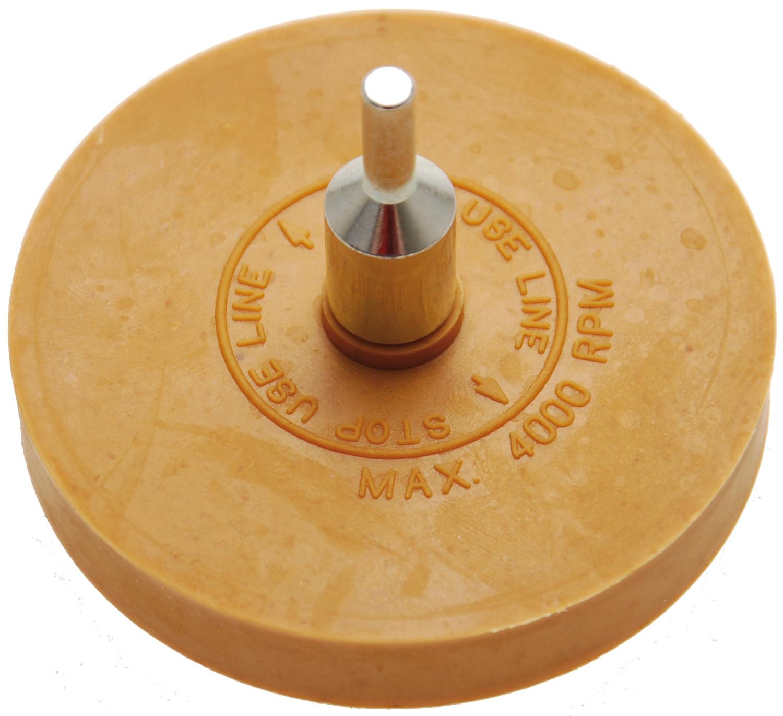 BGS 3999 Folienradierer Fächer glatt Ø 90mm mit Aufspanndorn Ø6mm