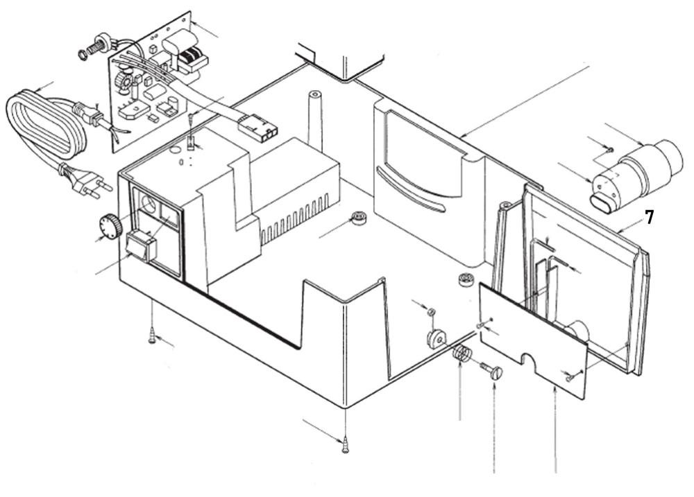 PROXXON 28070-7 Gehäuseklappe für Feinschnitt-Tischkreissäge FKS/E