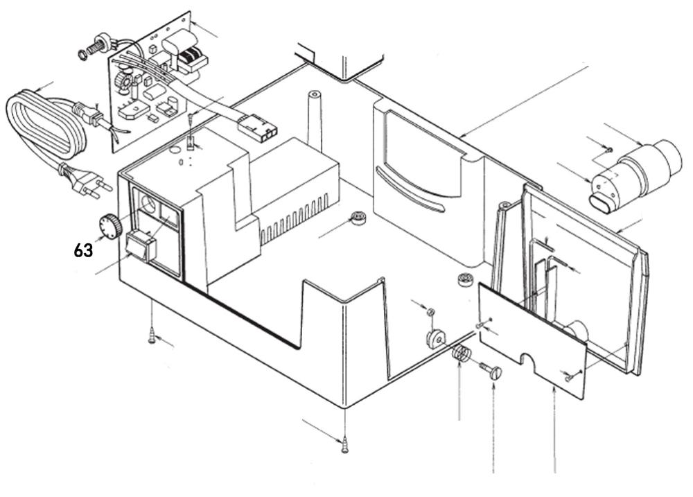 PROXXON 28070-63 Drehzahlreglerknopf für Feinschnitt-Tischkreissäge FKS/E