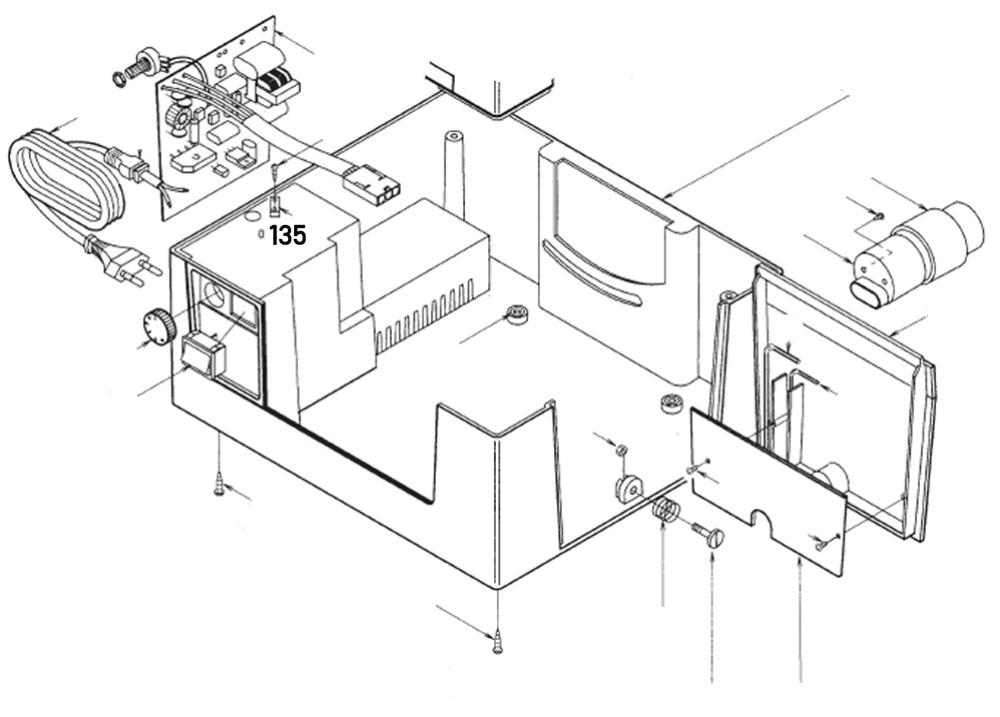 PROXXON 28070-135 Zugentlastung für Feinschnitt-Tischkreissäge FKS/E