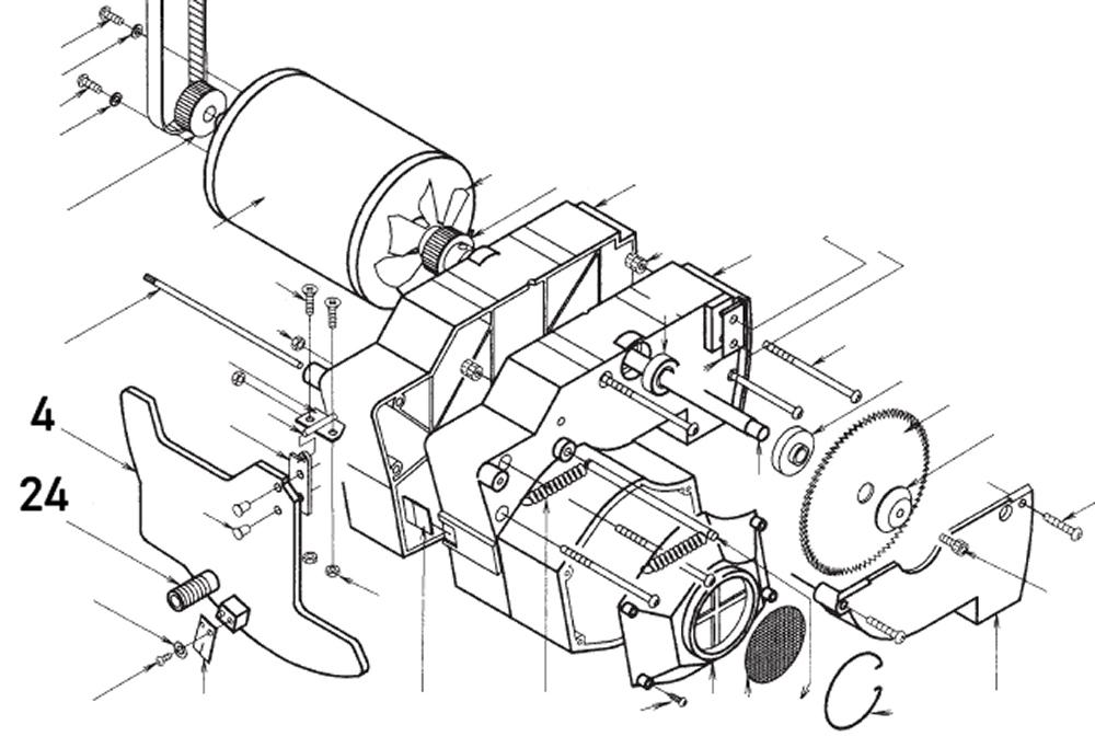 PROXXON 28070-4 Platte Winkeleinstellung (inkl. 24) für Feinschnitt-Tischkreissäge FKS/E