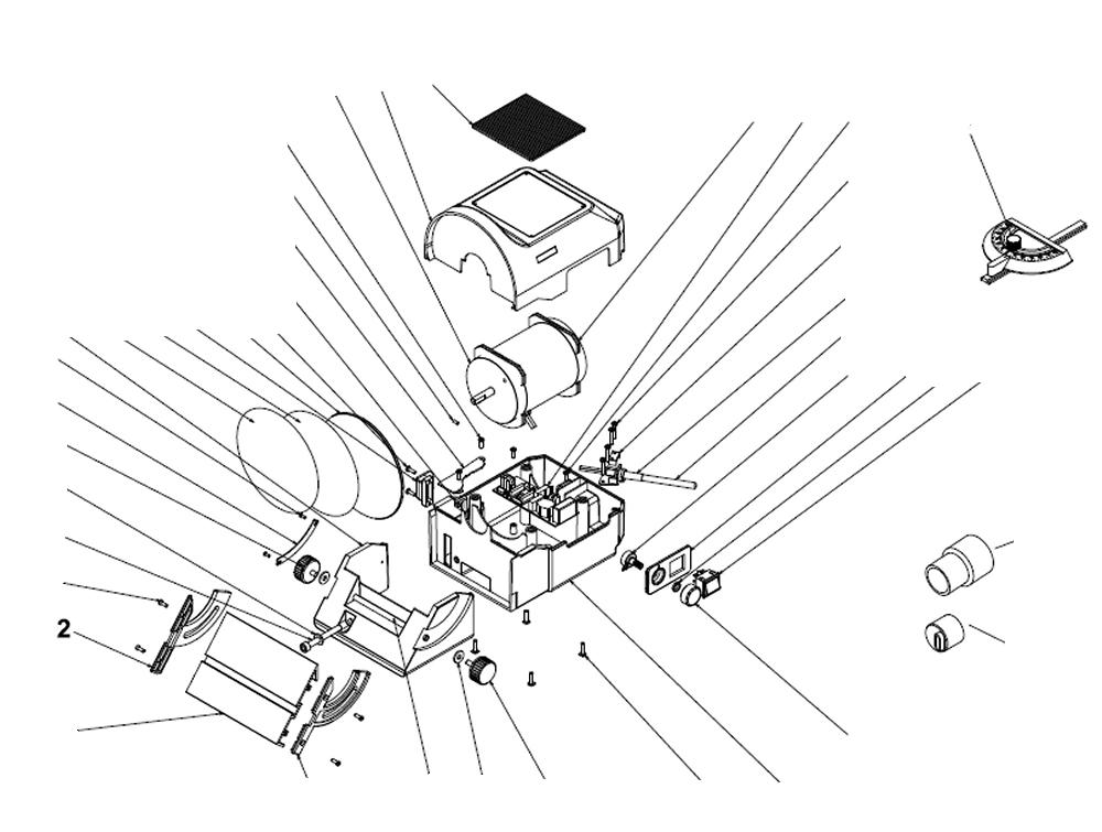 PROXXON 27060-2 Tischführung mit Markierung für Tellerschleifgerät TG125/E
