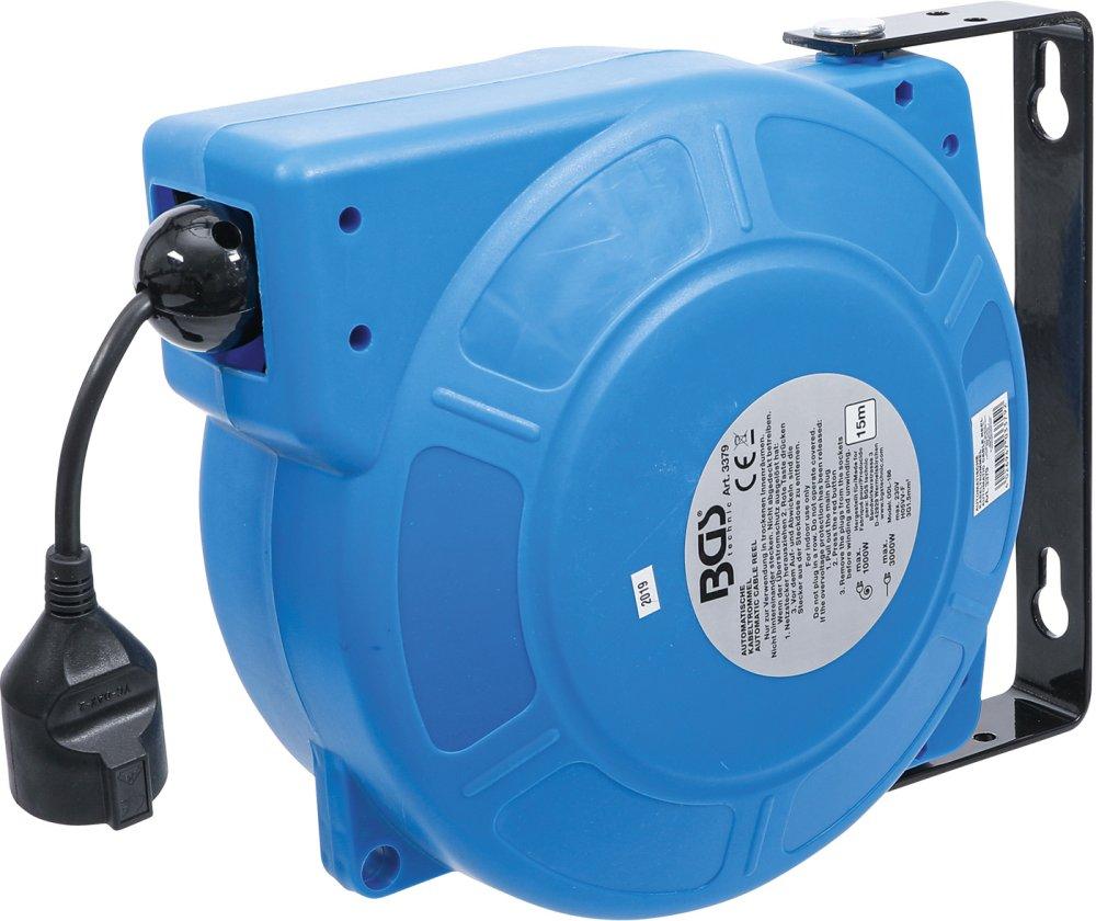 BGS 3379 Automatische Kabeltrommel 15m 3 x 1,5mm² IP 34 3000W