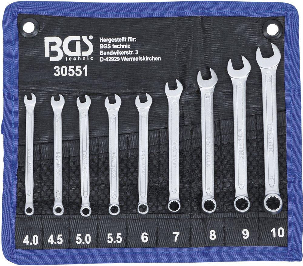 BGS 30551 Satz Maul-Ringschlüssel SW 4 - 10mm 9-teilig