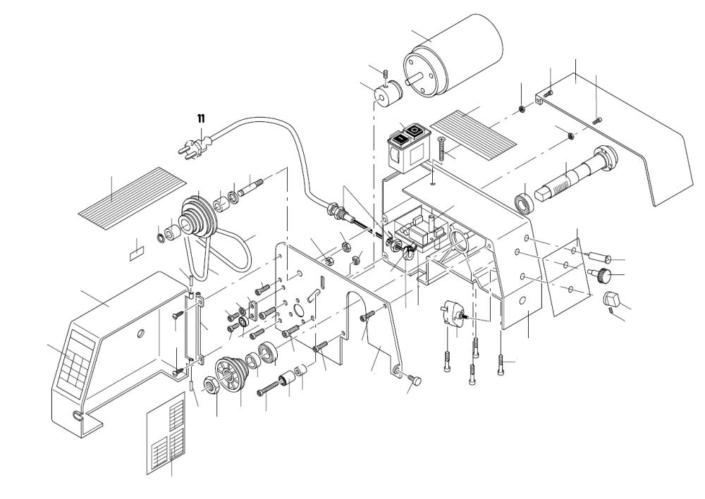 PROXXON 24004-01-11 Netzleitung für Drehmaschine PD 230/E
